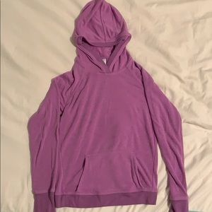 Athleta Girl Criss Cross Hoodie Purple